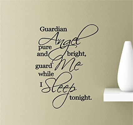 Amazon.com: Guardian angel pure and bright, guard me while I ...