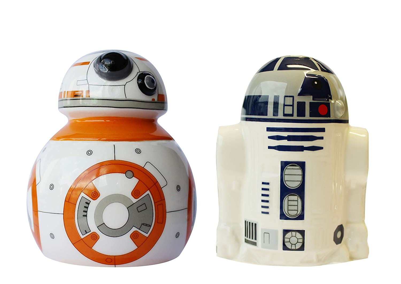 Joytoy 2 Pezzo Star Wars-BB 8-r2d2 Set Sale e Pepe in Ceramica, Ceramica,, 8 x 12 x 16 cm 8x 12x 16cm 21826