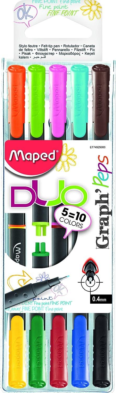 Maped GraphMania 749450 Pochette de 10 Feutres Fins