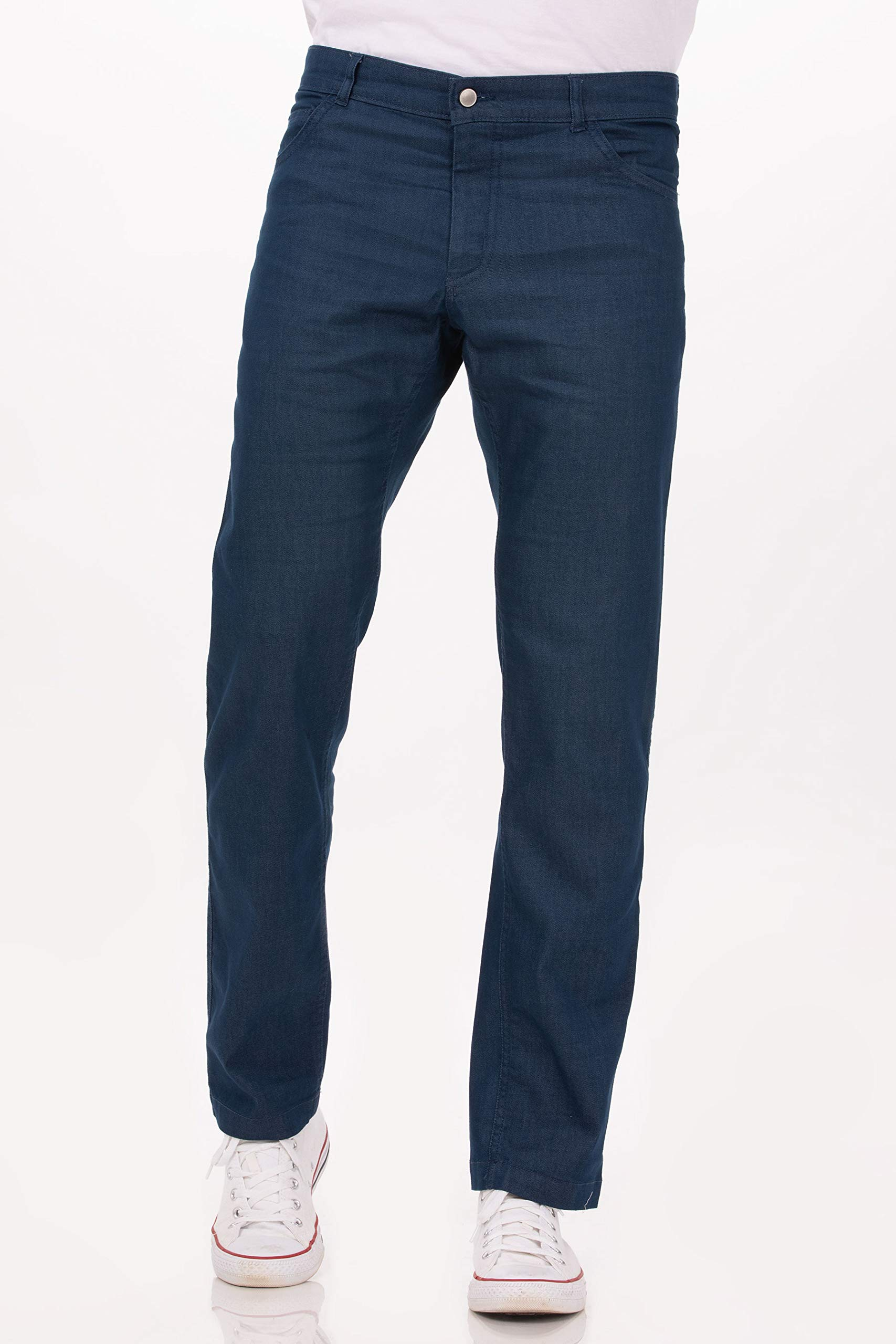 Chef Works Men's Modern 539 Constructed Chef Pants, Indigo Blue, 32 by Chef Works