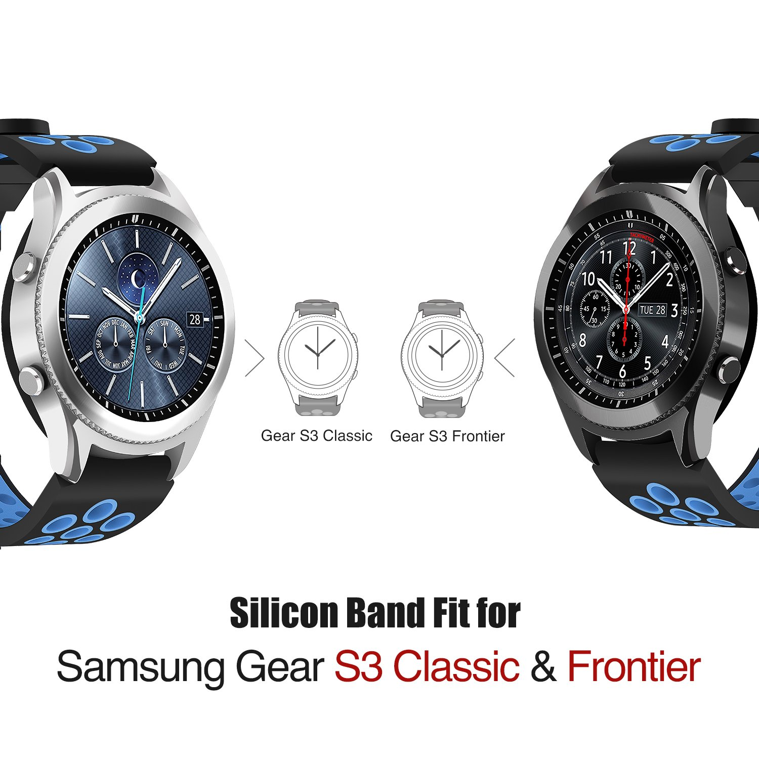 pack strap samsung watches watch gear frontier band fabric nylon opp pin bag for sport spring bracelet replacement loop product with leather