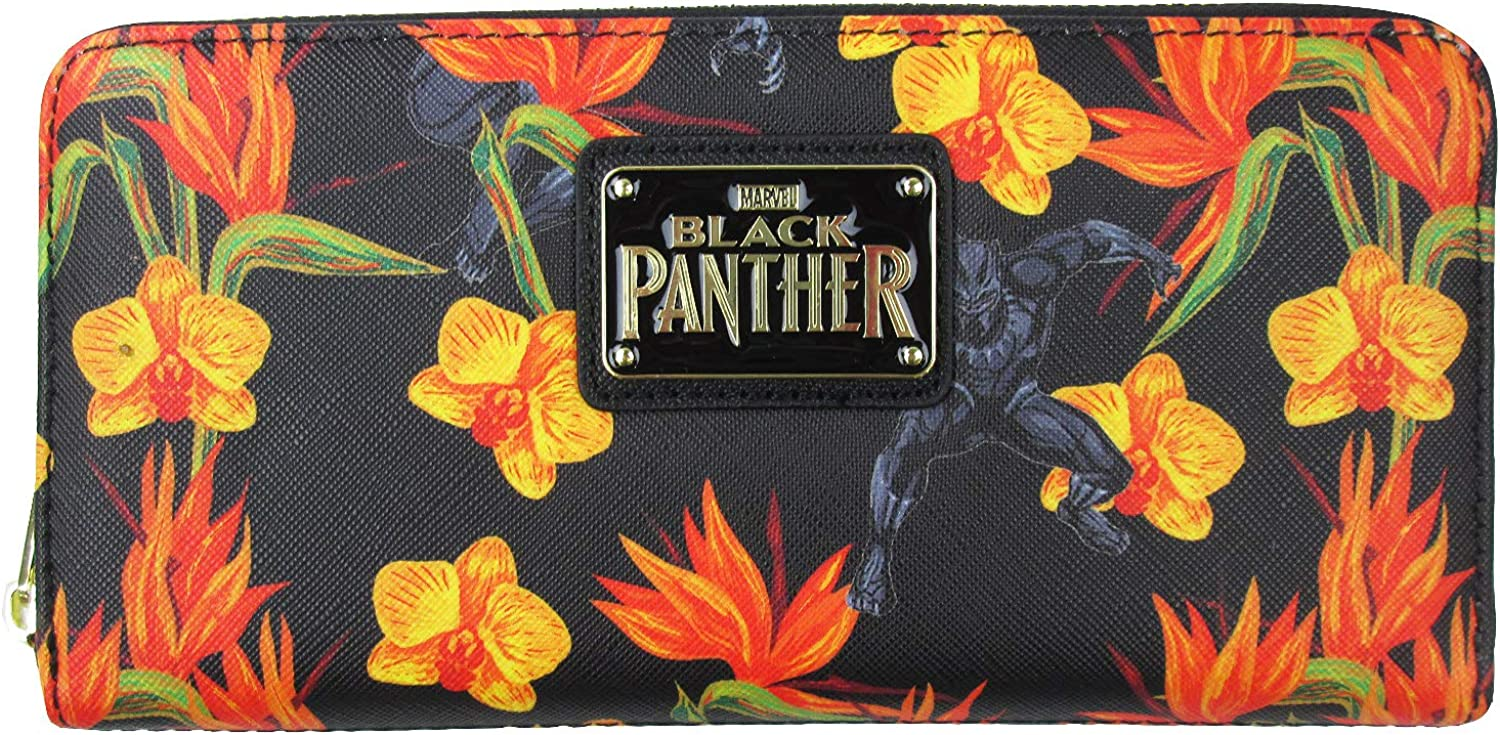 Loungefly x Marvel Black Panther Floral Duffel Purse