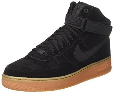 cfc8b055b6f8 Nike Men s Air Force 1 High  07 Lv8 Suede Basketball Shoe 9 Black