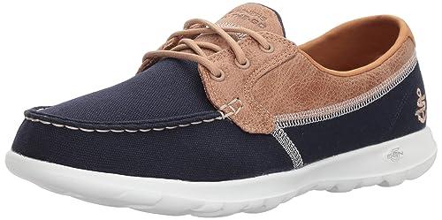 Walk Lite-15430 Wide Boat Shoe Navy