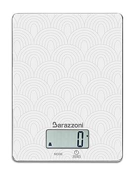Báscula de cocina electrónica, Barazzoni, diseño, plana, sin cuenco, Seca de tanto el recipiente que más VI è cómodo, báscula Pesa Alimentos, ...