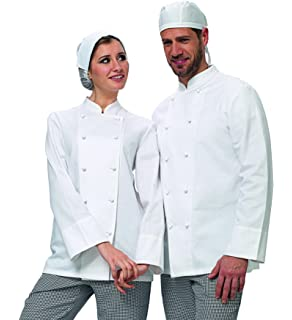 Dexinx Unisex Chef Giacca 3//4 Manica Cook Cucina di Lavoro Professionale Uniforme Top
