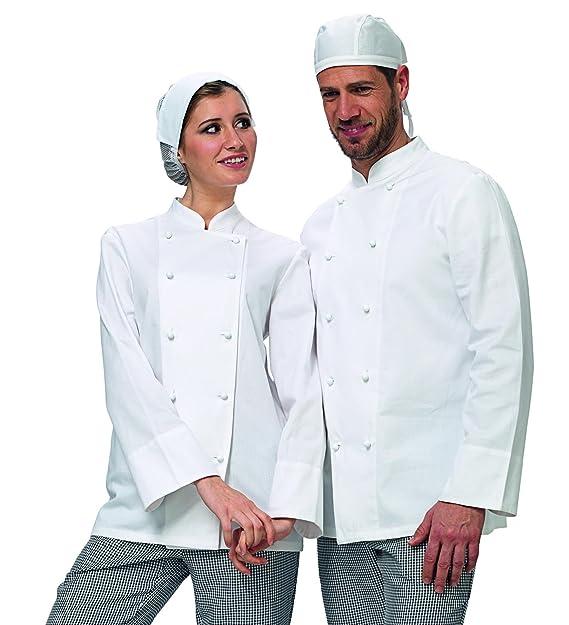 Amelia Giacca da Cuoco Bianca  Amazon.it  Abbigliamento a96309a0a525