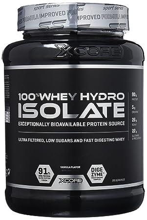 cecbfb3b9 Xcore Nutrition 100% Hydro Isolate Vanilla Whey Protein Ss Powder (X 0.900  Kilograms)  Amazon.co.uk  Health   Personal Care