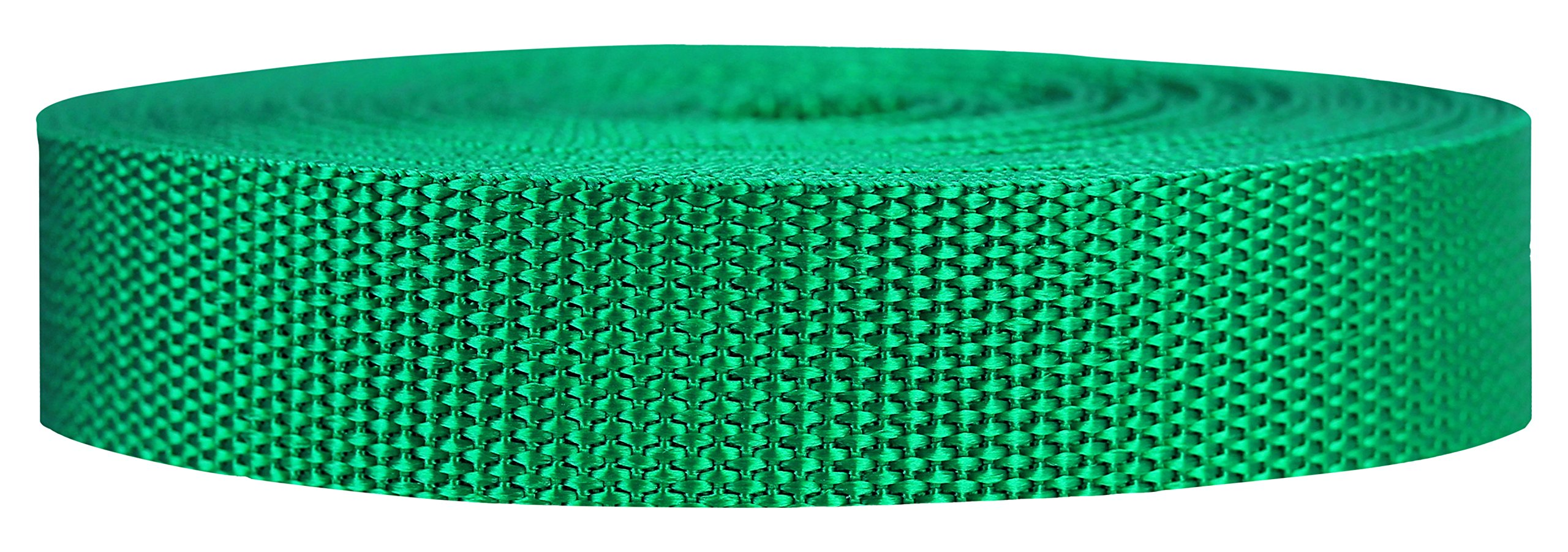 Strapworks Heavyweight Polypropylene Webbing - Heavy Duty Poly Strapping for Outdoor DIY Gear Repair, 1 Inch x 10 Yards - Kelly Green
