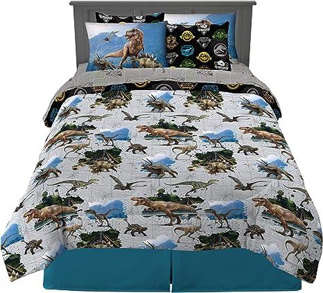 Jurassic World 3 Piece Twin Size Franco Kids Bedding Super Soft Sheet Set