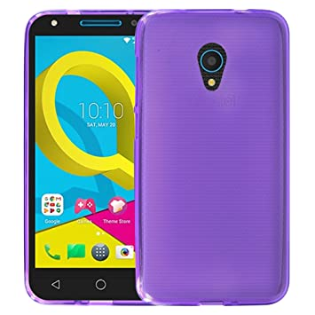 sports shoes 59bf4 d524a Alcatel U5 HD 5047Y New Genuine Gel Silicone Rubber Phone Case Cover +  Screen Protector - Purple