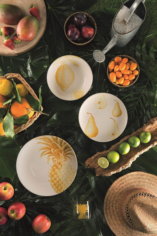 Excelsa Flora /& faune Service Assiettes c/éramique multicolore