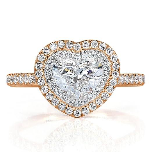 Mark Broumand 1.60ct Heart Shaped Diamond Engagement Ring