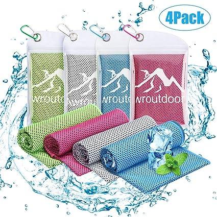 Awroutdoor 4 Pack Toalla de Enfriamiento - 100 x 30 cm Toalla de ...