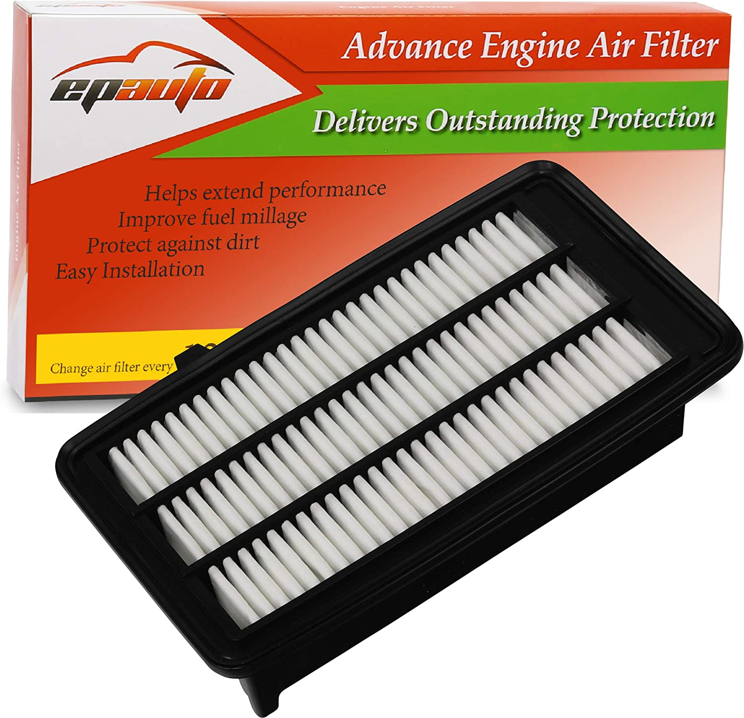 EPAuto GP050 (CA12050) Replacement for Honda Extra Guard Rigid Panel Air Filter for Civic 1.5L (2016-2019), CR-V 1.5L (2017-2019)