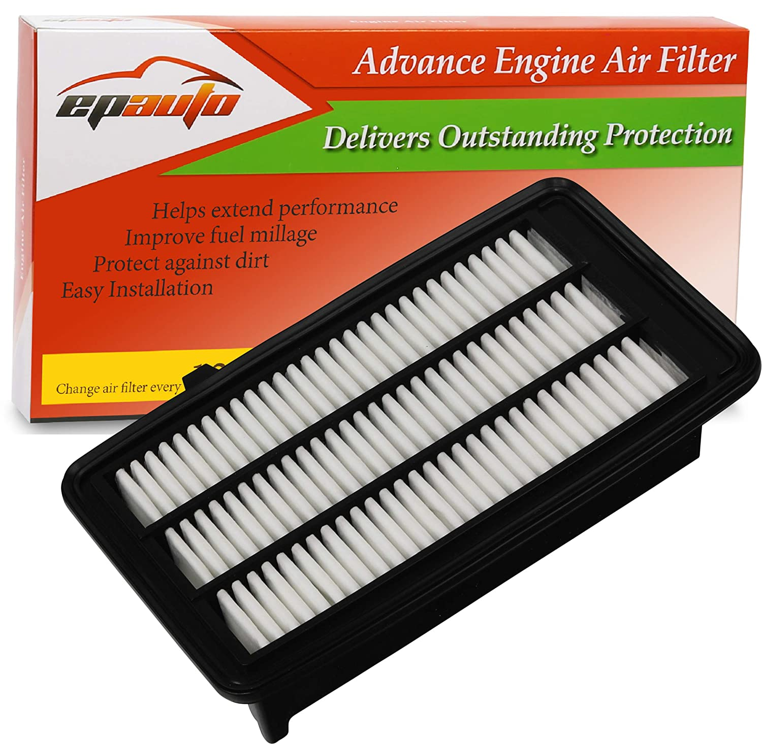 EPAuto GP050 2017-2018 CA12050 Replacement for Honda Extra Guard Rigid Panel Air Filter for Civic 1.5L 2016-2018 CR-V 1.5L