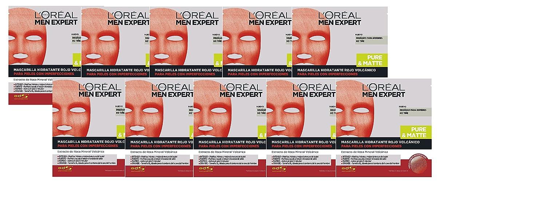 L'Oréal Men Expert Men Expert Mascarilla Hidratante Rojo Volcánico para Pieles con Imperfecciones (10 x 42 g) L' Oréal ZES05968