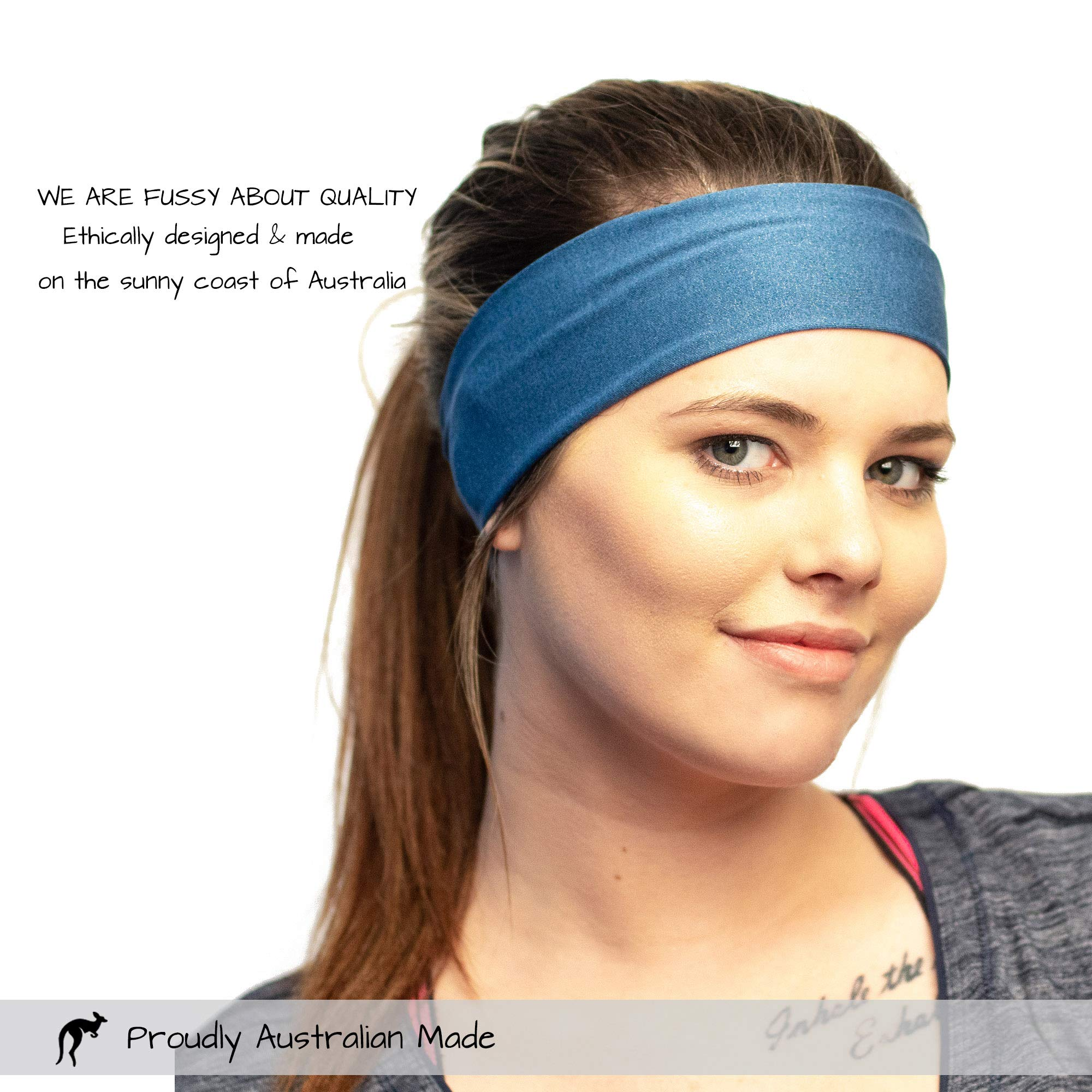 Red Dust Active Workout Headband - Ideal for Sports, Fitness, Running, The Gym & Yoga - Moisture Wicking - Non-Slip - Exercise Sweatband - Designed for Versatility & The Active Women by Red Dust Active (Image #8)