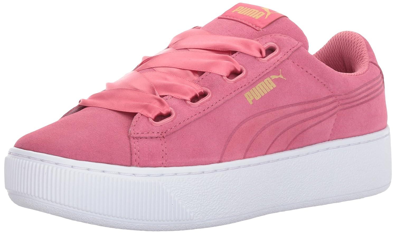 PUMA Women's Vikky Platform Ribbon Sneaker B01MSZQ7NI 8 M US|Rapture Rose-rapture Rose