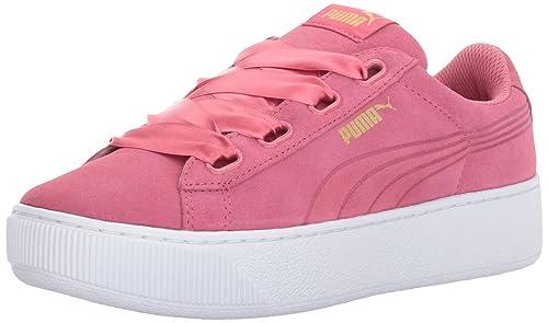 Puma Women's Vikky Platform Ribbon Sneaker, Rapture Rose-Rapture Rose, ...