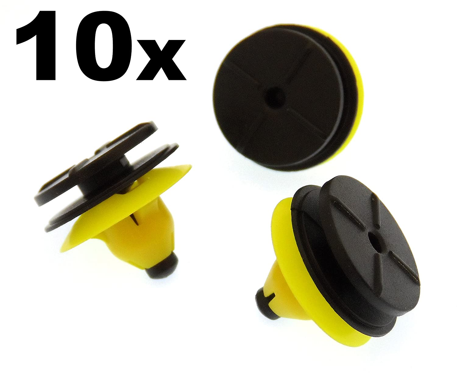 10x Plastic Trim Clips for Side Skirts, Sill Mouldings & Rocker Cover Trim (30624192) 227sparts