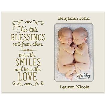 Amazon.com: Personalizado Nuevo bebé regalos para gemelos ...