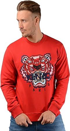 Kenzo Hommes f865sw001 Tigre Pull en Rouge