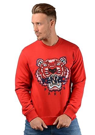 c6f4ba98f3b Kenzo Hommes f865sw001 Tigre Pull en Rouge - XL
