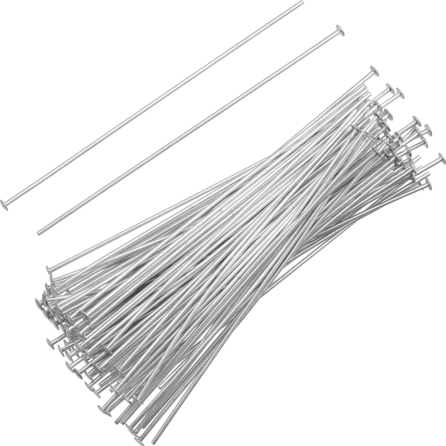 Sterling Silver 22 Gauge 2 Inch Headpin 100 Count