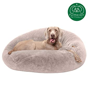 Amazon.com: Cama para perro Furhaven | Cama redonda de pelo ...