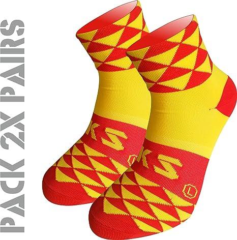 Pack 2 Pares Calcetines EKEKO TKS Prisma. Calcetin Técnico Deportivo, Ciclismo, Running, Tenis y Golf.: Amazon.es: Deportes y aire libre
