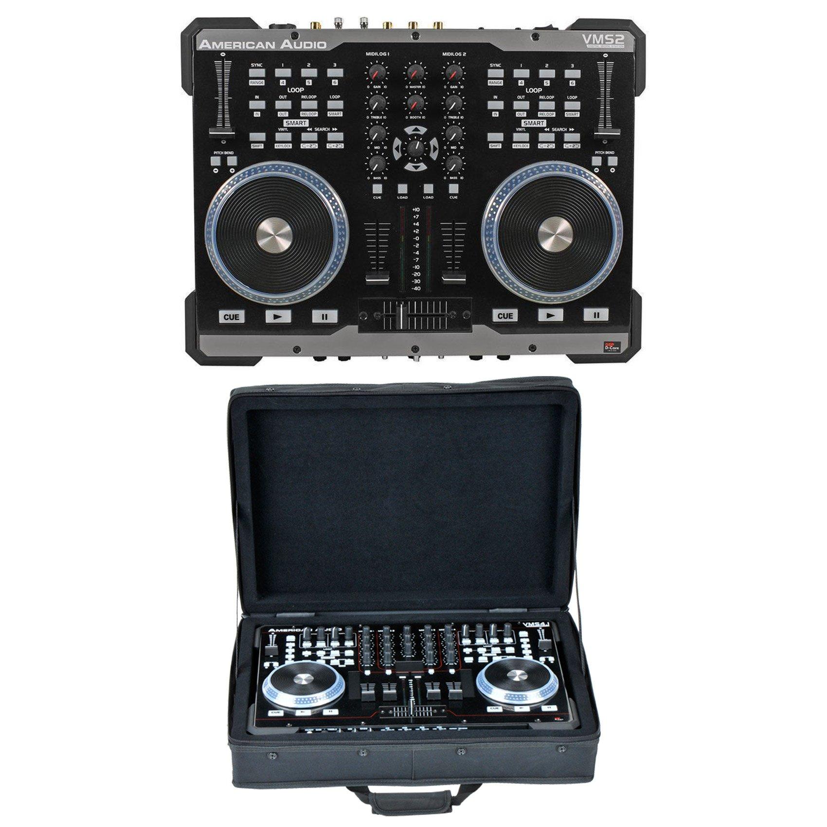 Package: American Audio VMS2 USB MIDI DJ Controller + SKB 1SKB-SC1913 19'' Soft Heavy Duty Padded Keyboard Controller Canvas Case by American Audio