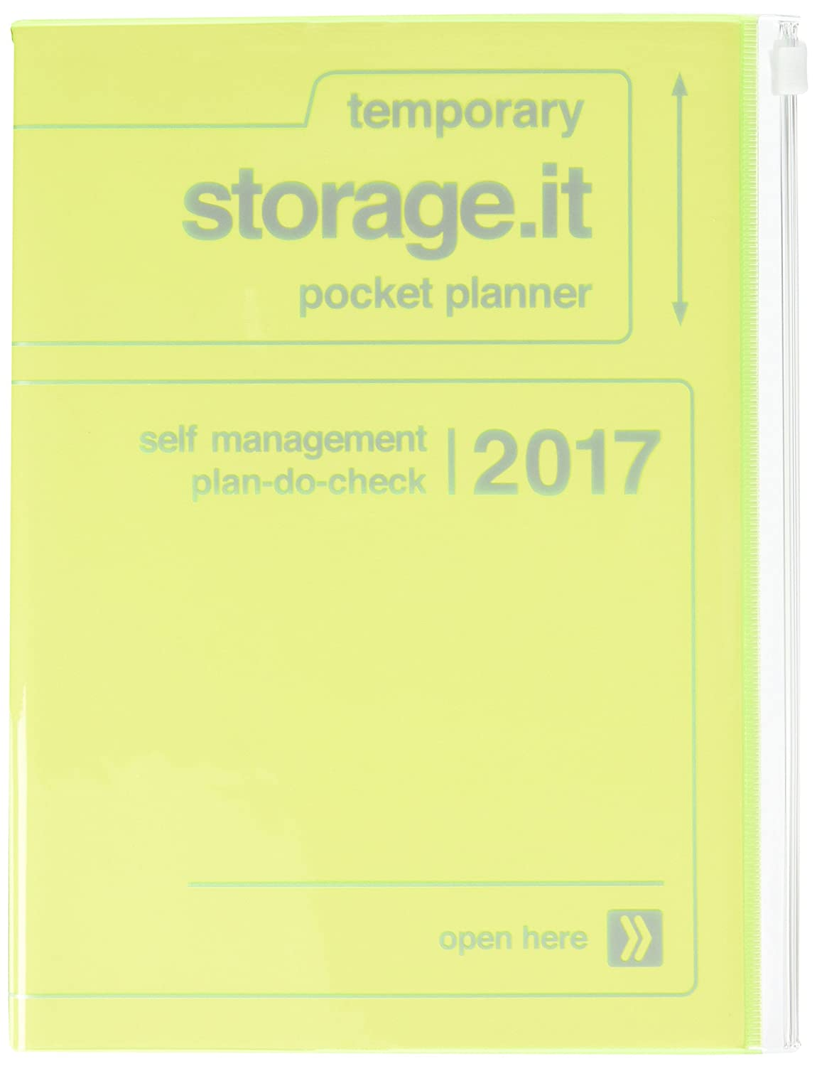 MARKS 2017 Taschenkalender A5 vertikal, Storage.it // Neon yellow: KAL