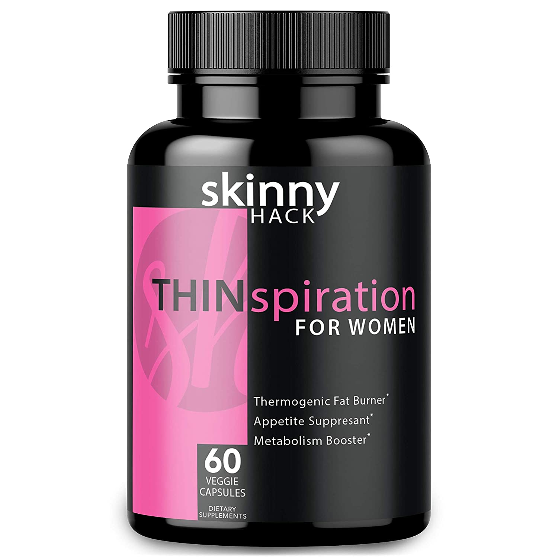SkinnyHack – Thermogenic Fat Burner for Women – Weight Loss Pills, Metabolism Booster Appetite Suppressant 60 Vegan Diet Pills for Women