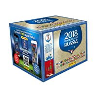 Caja con 100 sobres (500 estampas) Panini Mundial 2018
