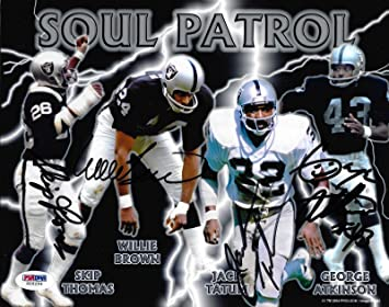 Signed Jack Tatum Photograph - Soul Patrol Raider 8x10 Willie ...