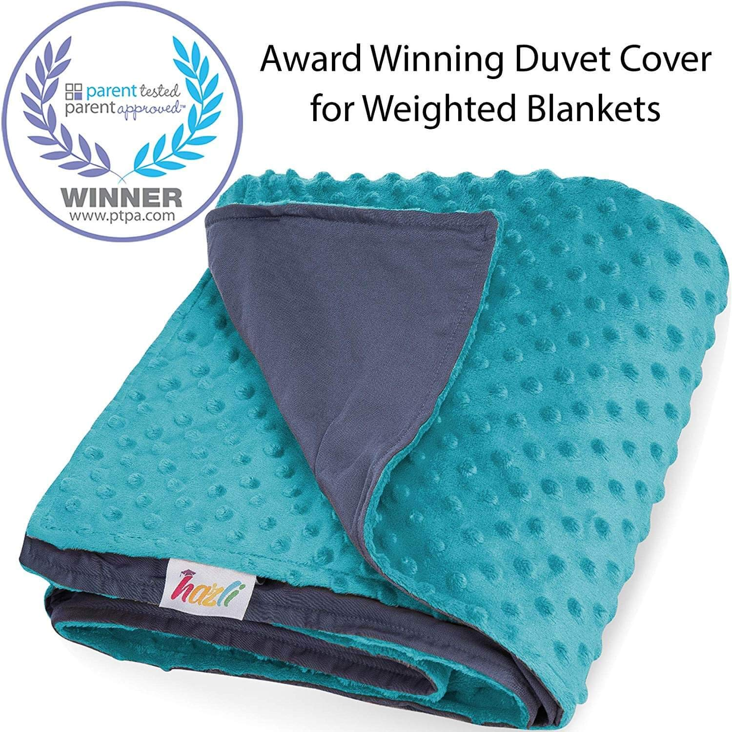 Duvet Cover for Weighted Blanket 48''x 72'' - Cooling Bamboo and Soft Minky Dot - Removable Duvet Cover for Hot and Cold Nights