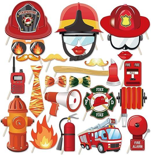 Fire Engine Childrens Photo Prop Fête Décoration