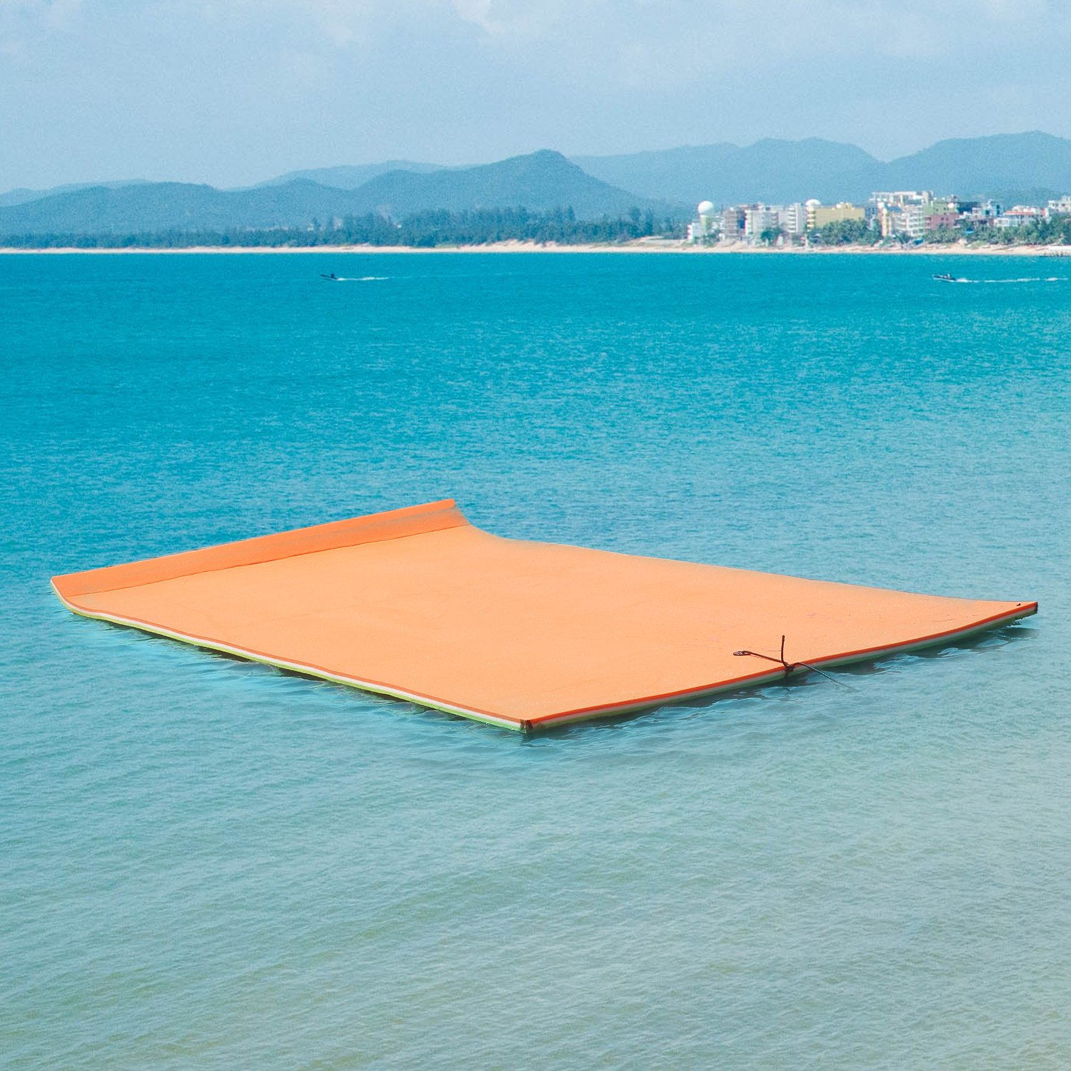 LEISURELIFE 18'x6' Floating Water Mat for Lake Pool - Floating Foam Pad Designed for Adults 1300 LB by LEISURELIFE (Image #1)