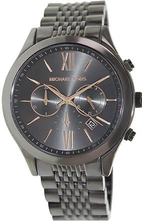 amazon com michael kors gunmetal stainless steel brookton michael kors gunmetal stainless steel brookton chronograph men s watch mk8318
