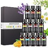 Aceites Esenciales para Humidificador, Set de Aceites de Aromaterapia Aromático para Difusor, 100% Puro Natural Lavanda…