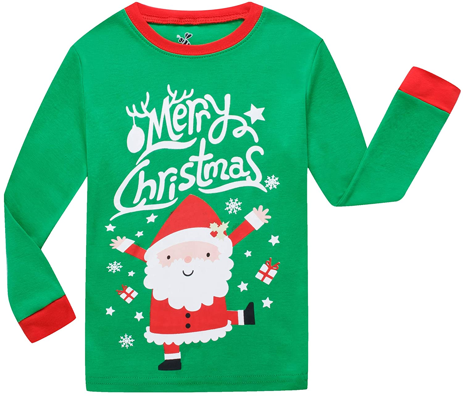 328220885c Amazon.com  Little Boys Girls Christmas Cotton Pajamas Children Santa Claus  PJS Gift Set Kids Sleepwear Clothes  Clothing
