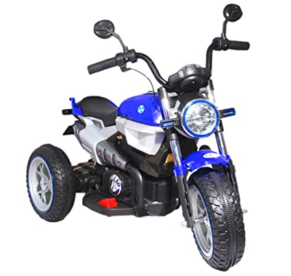2f401100dd8f Toy House 3-Wheel Hot Rod Bike Rechargeable Battery Operated Ride-On for  Kids (2 to 6Yrs), Blue
