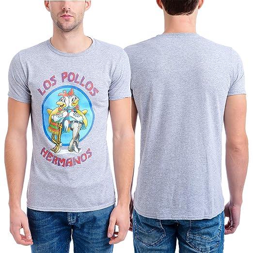 f1c7abd01 Breaking Bad Men's Los Pollow Hermanos Short Sleeve T-Shirt, Heather Gray,  Small