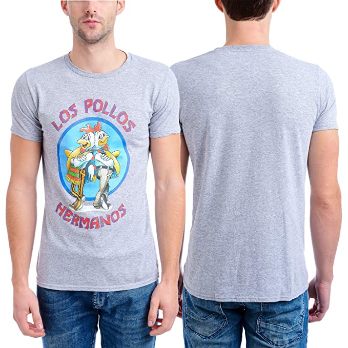 aeaae834f Breaking Bad Men's Los Pollow Hermanos Short Sleeve T-Shirt, Heather Gray,  Small