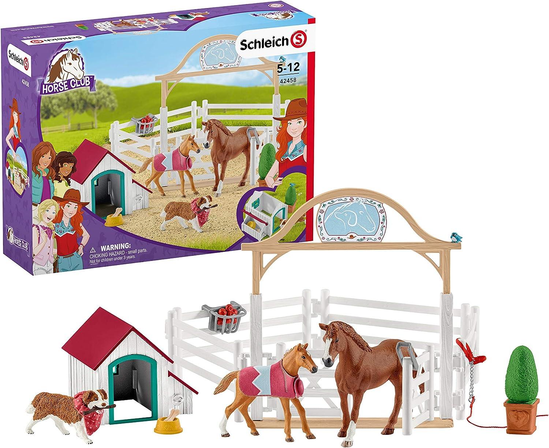 SCHLEICH 42441-hannahs Western-Reitset-cavallo grande cavallerizza ostacoli Horse Club