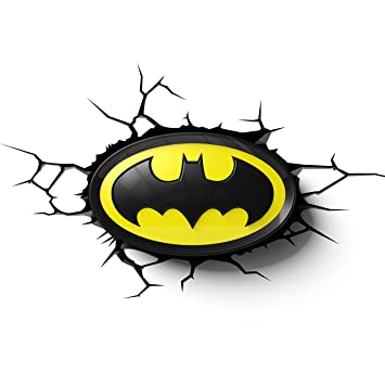 Dc batman emblem 3d wall light amazon toys games dc batman emblem 3d wall light mozeypictures Images