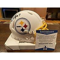 $220 » Cameron Cam Heyward Signed Pittsburgh Steelers Flat White Mini Helmet Beckett #3 - Autographed NFL Mini Helmets