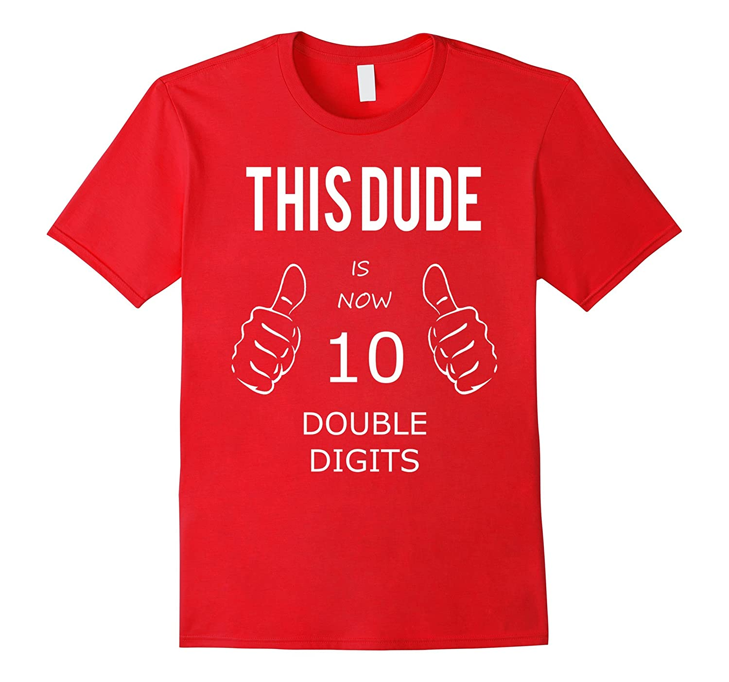 10 Year Old Boy Gifts Officially Double Digits Shirt-CL