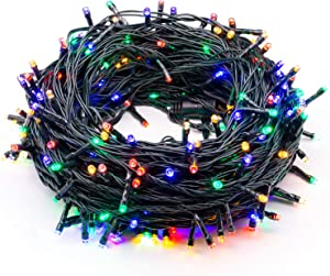 320 LEDs 115ft/35m String Lights Memory Function End-to-End Plug in Outdoor Indoor Waterproof Decorative Fairy Twinkle Christmas String Lights with 8 Modes for Tree/Wedding/New Year/Home - Colorful